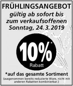 Frühlingsangebot 2019