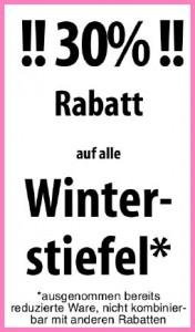 Winterstiefelaktion